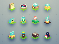 Isometric icon set (32 icons)