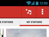 My Stations Screen