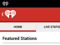 iHeartRadio Home Screen