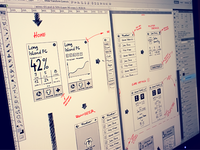 Scribbling some wireframes...