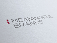 Meaningful Brands Logo Letterpress