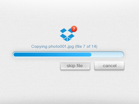 Dropbox Upload Concept