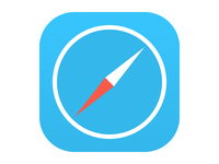 Flat iOS 7 Safari Icon