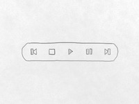 Hand Drawn - Media Toolbar Ui