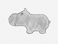 Hand Drawn - Hippo