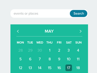 Search box and Calendar