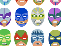 Luchador Mask Icons for the CSSOff