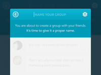 Change group name - IOS App