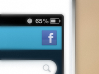 Mobile facebook login button