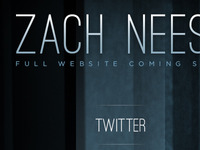Zach Neese Splash Page
