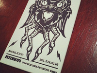 Evil Owl Business Card - Letterpress
