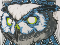 Owl Silk Screen Print