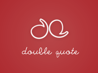 Double Quote Blog Logo