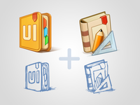 UI Book & Design Book icons
