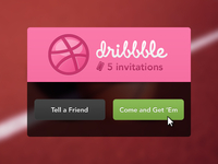 FIVE Dribbble Invitations
