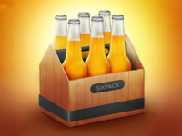 A sixpack of beer