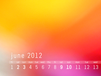 June 2012 Desktop Calendar