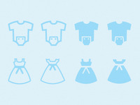 Icon Set: Baby/Girls