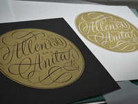 Allen and Anita Letterpress Print