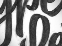 WIP: Upright brush script sketch