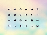 New Vector Icon Set - Photography