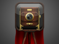 Folding Photo Camera iOS Icon