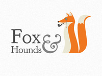 Fox & Hounds logo design 01a