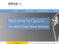 New OpusVL homepage design