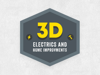 3D Electrics & Home Improvements Logo (f)
