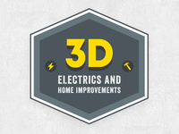 3D Electrics & Home Improvements Logo - minus typo!