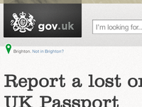 Header concept for a UK citizen tool page