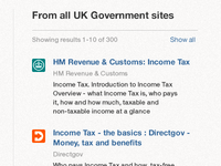 Search across all .gov.uk domains