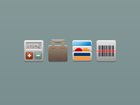 Mobile app e-commerce icons
