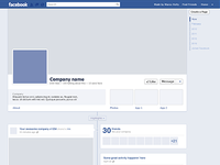 Facebook Timeline template freebie