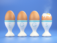 4 Lightly-boiled Eggs