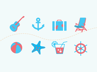 Icons for Travel Agency