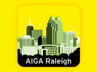 AIGA Raleigh Sticker