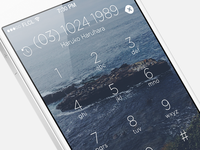 iOS Homescreen Dialer
