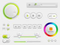 Lime/White UI