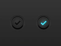 Dark UI Button