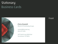 Community Groups: Business Cards