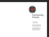 Community Groups: Letterhead