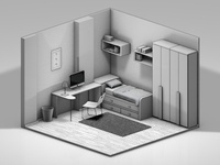 Isometric Bedroom