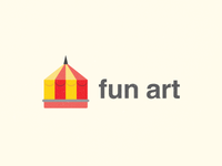 Fun art logo