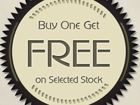 Buy One Get One Free Vintage Badge