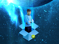 Spock is not impressed at being synced to Dropbox