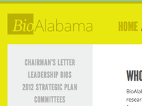 Logo and Web Redesign for BioAlabama