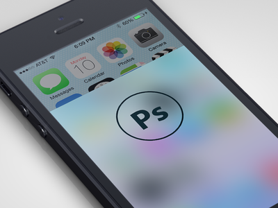 Download iOS 7 Blur Photoshop Action