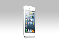 White iPhone 5 Psd