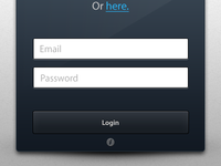 Dark Login Form [Freebie]